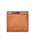 COLE HAAN(コールハーン)の古着「ミニ2つ折り財布」|ブラウン