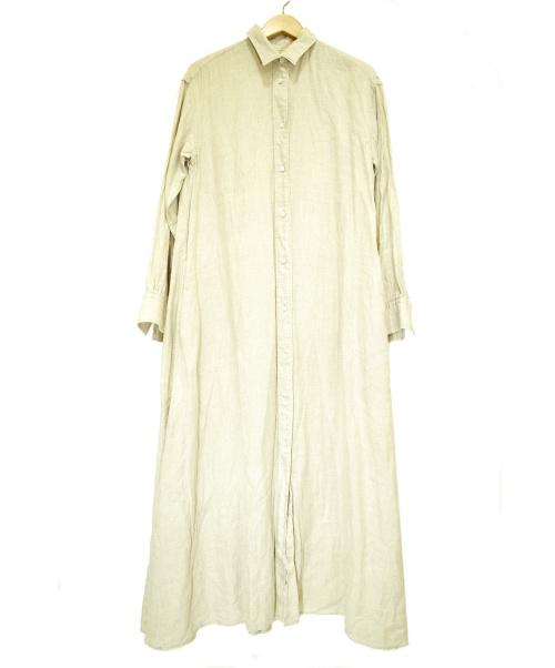 Plage(プラージュ)Plage (プラージュ) リネンロングシャツワンピース ベージュ サイズ:38 2020年S/Sの古着・服飾アイテム