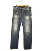 RRL(ダブルアールエル)の古着「ヴィンテージ加工デニムパンツ」|インディゴ