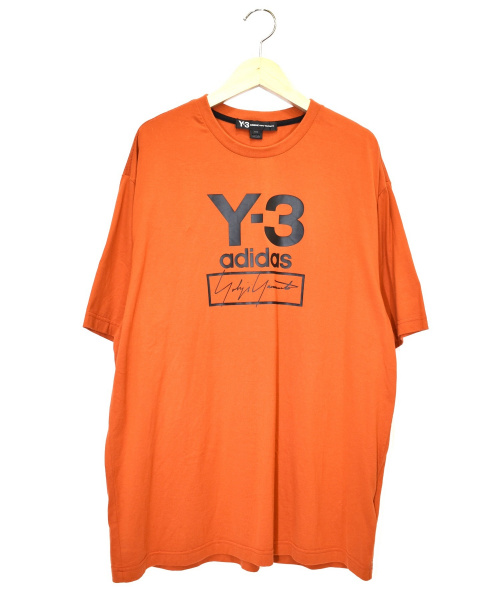 Y-3(ワイスリー)Y-3 (ワイスリー) プリントTシャツ オレンジ サイズ:M FJ0411 STACKED LOGO SS TEEの古着・服飾アイテム