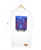 HERON PRESTON(ヘロン プレストン)の古着「バードプリントTシャツ」|ホワイト