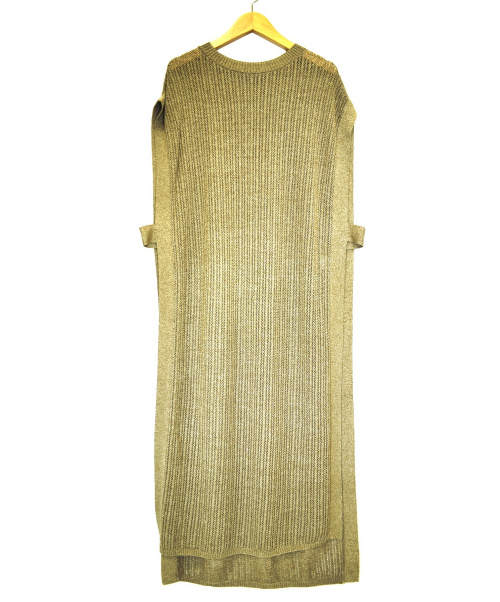 sophila(ソフィラ)sophila (ソフィラ) サイドスリットニットワンピース ブラウン サイズ:F 0996の古着・服飾アイテム