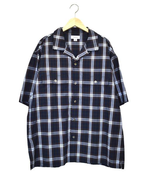 TONE(トーン)TONE (トーン) 開襟シャツ ネイビー サイズ:3 TO-SS19-SS05の古着・服飾アイテム
