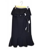 IRENE(アイレネ)の古着「Natalieミディスカート」|ネイビー