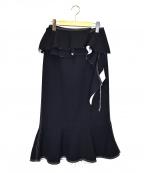 IRENE(アイレネ)の古着「Natalieミディスカート」 ネイビー