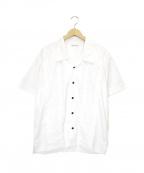 BLACK EYE PATCH(ブラックアイパッチ)の古着「ファイヤー刺繍開襟シャツ」 ホワイト