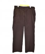 SSZ(エスエスゼット)の古着「シャカワイドパンツ」|ブラウン