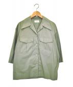 LEMAIRE(ルメール)の古着「オープンカラーシャツ」|グリーン