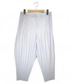 HOMME PLISSE ISSEY MIYAKE()の古着「プリーツバルーンパンツ」|グレー