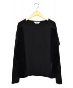 ATSURO TAYAMA(アツロフタヤマ)の古着「ファー切替カットソー」|ブラック