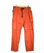stussy(ステューシー)の古着「カーゴジップオフパンツ」|オレンジ
