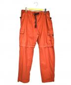 stussy()の古着「カーゴジップオフパンツ」|オレンジ