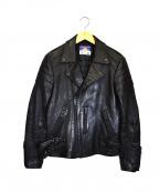 blackmeans(ブラックミーンズ)の古着「ダブルライダースジャケット」|ブラック
