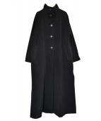 MaxMara(マックスマーラ)の古着「スタンドカラーウールロングコート」 ブラック