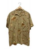 ()の古着「ヴィンテージオープンカラーシャツ」|ベージュ