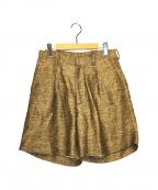 CLANE HOMME(クラネ オム)の古着「リネンショートパンツ」|ベージュ