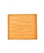 ISSEY MIYAKE MEN(イッセイミヤケメン)の古着「2つ折り財布」|ブラウン