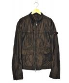 PEUTEREY(ピューテリー)の古着「ナイロンジャケット」|ブラウン