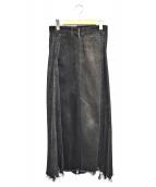 77circa(ナナナナサーカ)の古着「リメイクデニムスカート」|ブラック
