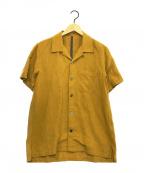 KAZUYUKI KUMAGAI ATTACHMENT(カズユキクマガイアタッチメント)の古着「C/Liオックスオープンカラー半袖シャツ」|イエロー