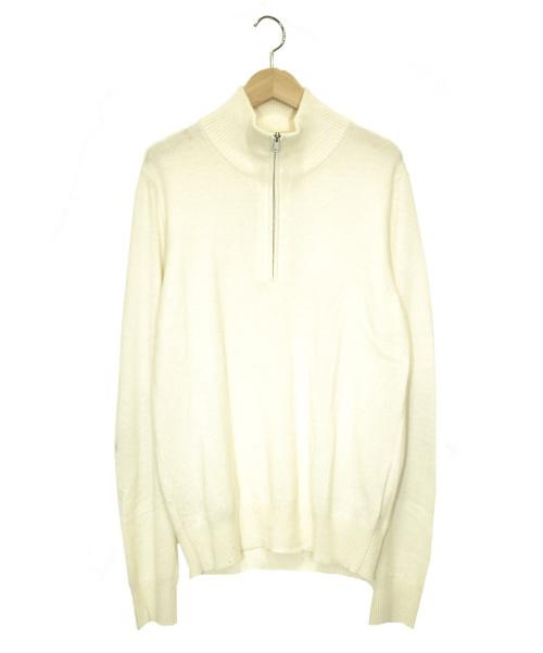 Maison Margiela(メゾンマルジェラ)Maison Margiela (メゾンマルジェラ) エルボーパッチニット アイボリー サイズ:Sの古着・服飾アイテム