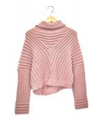 AMERI(アメリ)の古着「ボリュームタートルネックニット」 ピンク