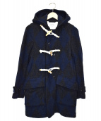 FWK Engineered Garments(エフダブリューケイ エンジニアードガーメンツ)の古着「フーデットダッフルコート」|ブルー×ブラック