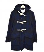 FWk Engineered Garments(エフダブリューケーエンジニアードガーメンツ)の古着「フーデットダッフルコート」|ブルー×ブラック