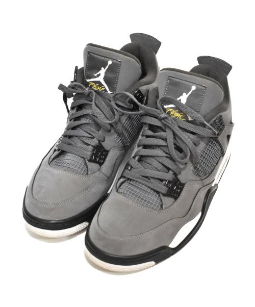 NIKE(ナイキ)NIKE (ナイキ) バスケットボールシューズ ライトグレー サイズ:28cm AIR JORDAN 4 RETRO 308497-007の古着・服飾アイテム