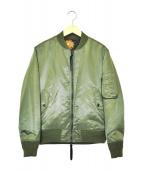WHITE MOUNTAINEERING(ホワイトマウンテニアリング)の古着「リバーシブルMA-1ジャケット」 カーキ