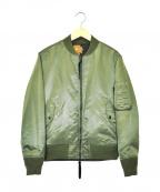 WHITE MOUNTAINEERING(ホワイトマウンテ二アニング)の古着「リバーシブルMA-1ジャケット」 カーキ