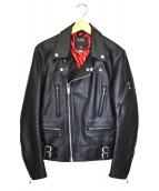 666(シックスシックスシックス)の古着「レザーライダースジャケット」|ブラック