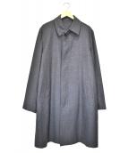 YOHJI YAMAMOTO COSTUME DHOMME(ヨウジヤマモトコスチュームドオム)の古着「比翼ステンカラーコート」|グレー