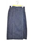 45R(フォーティファイブアール)の古着「麦サテンのワーク3スカート」 インディゴ