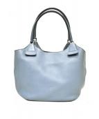 HIROFU(ヒロフ)の古着「レザートートバッグ」|ブルー
