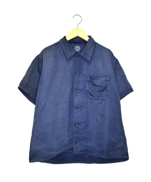 Porter Classic(ポータークラシック)Porter Classic (ポータークラシック) スーパーナイロン半袖シャツ ネイビー サイズ:Mの古着・服飾アイテム