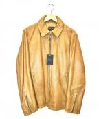 MR.OLIVE(ミスターオリーブ)の古着「シングルレザージャケット」|ベージュ
