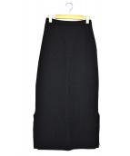 Y's(ワイズ)の古着「ウールスリットタイトロングスカート」 ブラック