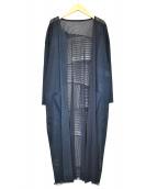 ()の古着「デザインロングカーディガン」|グレー