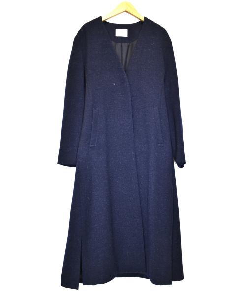 IENA(イエナ)IENA (イエナ) ウールガウンコート ネイビー サイズ:38の古着・服飾アイテム