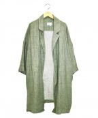 GALLEGO DESPORTES(ギャレゴデスポート)の古着「リネンコート」|グリーン