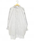GALLEGO DESPORTES(ギャレゴデスポート)の古着「ショートストライプチュニック」|ホワイト