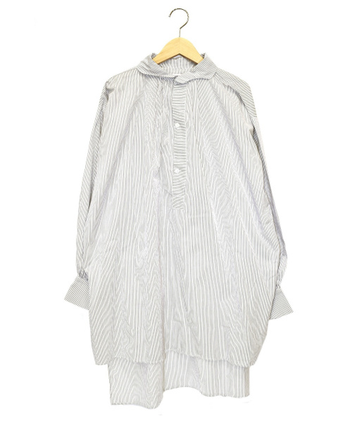 GALLEGO DESPORTES(ギャレゴデスポート)GALLEGO DESPORTES (ギャレゴデスポート) ショートストライプチュニック ホワイト サイズ:Sの古着・服飾アイテム