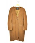 sophila(ソフィラ)の古着「ノーカラーウールコート」|ブラウン