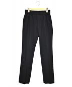 MAISON SPECIAL(メゾンスペシャル)の古着「ストレッチポプリンサイドスリットテーパードパンツ」|ブラック