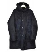 TOMORROW LAND(トゥモローランド)の古着「フーデッドコート」|ブラック