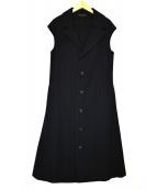 yohji yamamoto+Noir(ヨウジヤマモト プリュス ノアール)の古着「ノースリーブロングコート」|ブラック