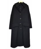 yohji yamamoto+Noir(ヨウジヤマモト プリュス ノアール)の古着「ロングウールコート」|ブラック