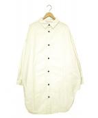 Yarmo(ヤーモ)の古着「オーバーサイズロングシャツ」|ベージュ