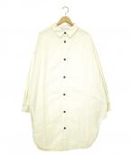 Yarmo(ヤーモ)の古着「オーバーサイズロングシャツ」 ベージュ